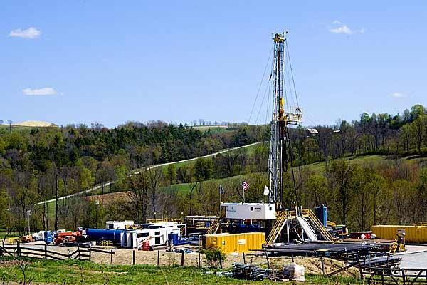 Planta de fracking en Estados Unidos